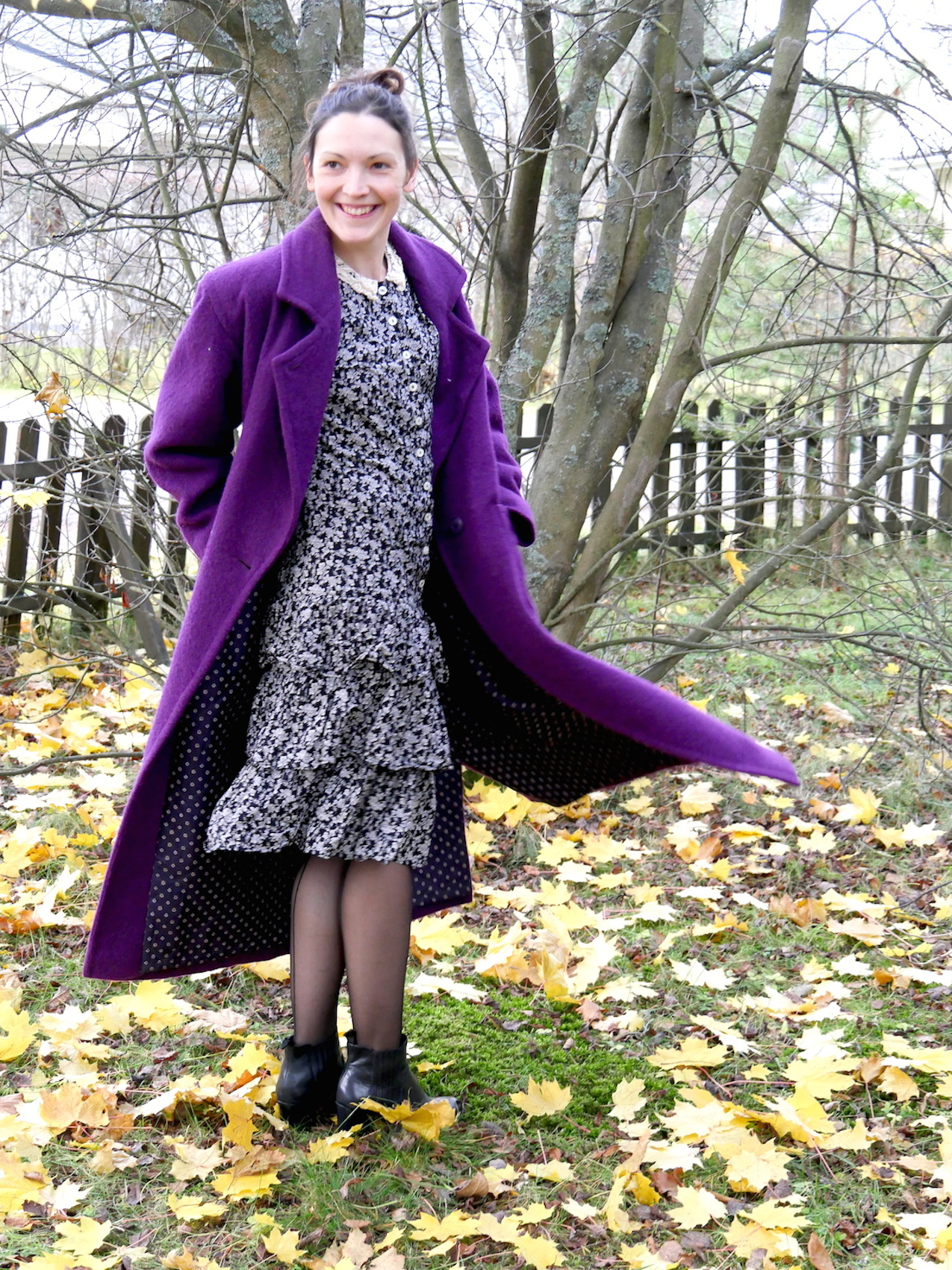 purple coat second hand